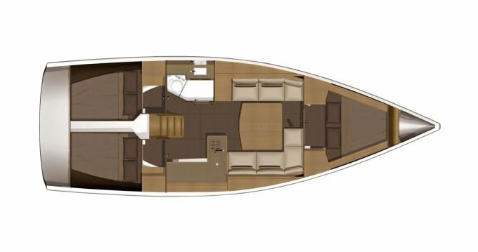 Location bateau Saint-Mandrier-sur-Mer pas cher Dufour 382 Grand Large