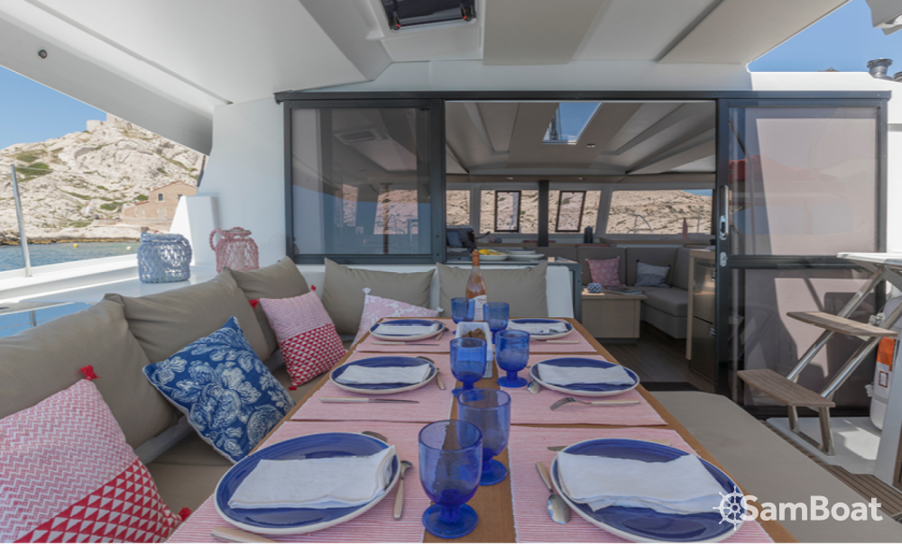 Fountaine Pajot Astrea 42 between personal and professional Ibiza city