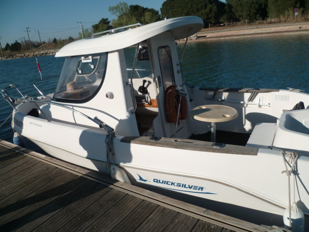 Rental Motor boat in Marseillan - Quicksilver Quicksilver 580 Pilothouse