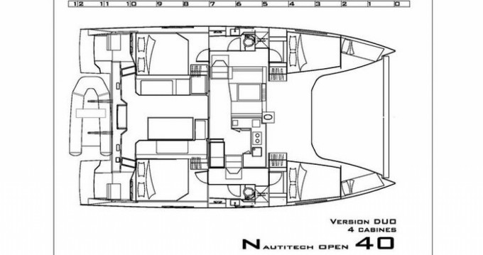 Louer Catamaran avec ou sans skipper Nautitech à Hyères