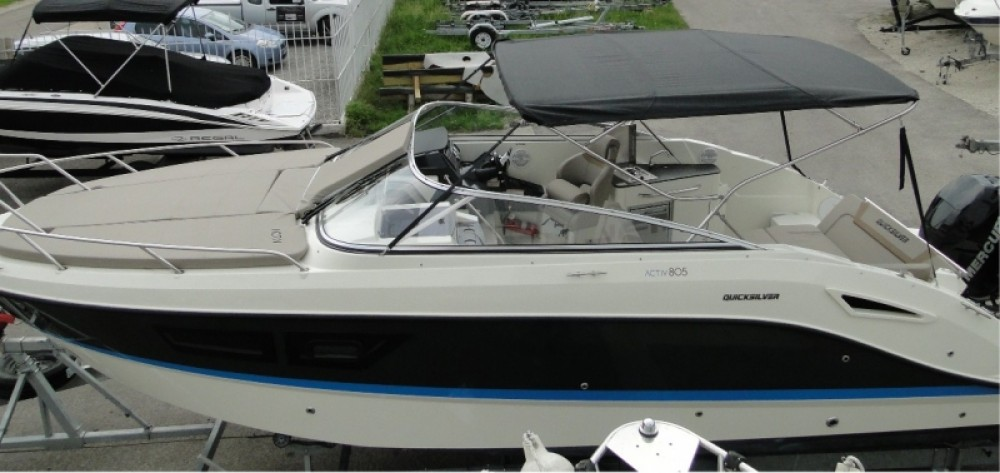 Rental Motor boat in Saint-Cyprien - Quicksilver Activ 805 Cruiser