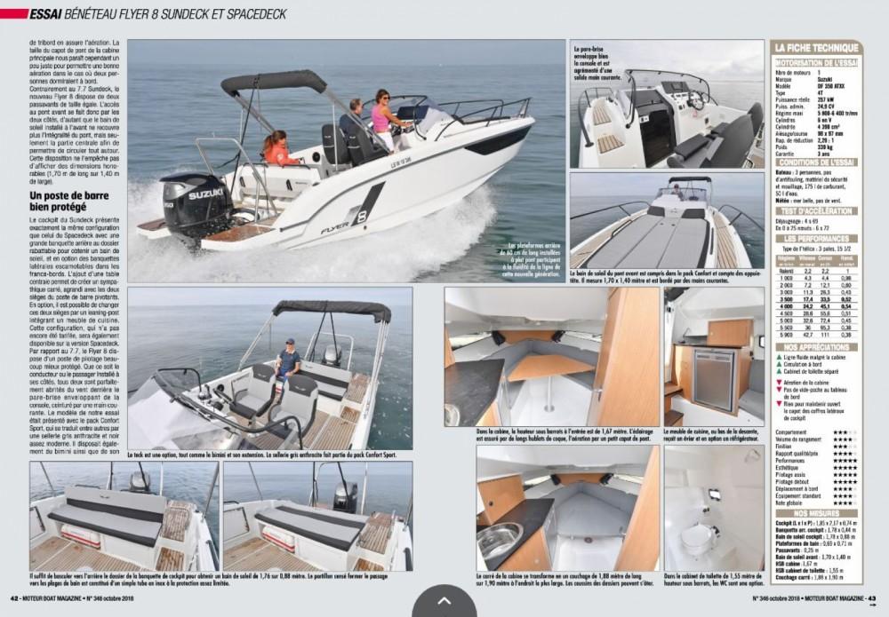 Location bateau Port Grimaud pas cher Flyer 8 Sun Deck