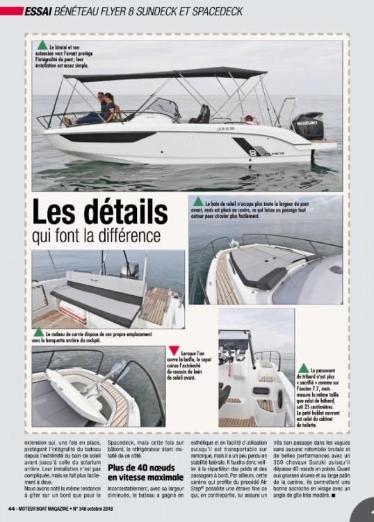 Location bateau Bénéteau Flyer 8 Sun Deck à Cogolin sur Samboat