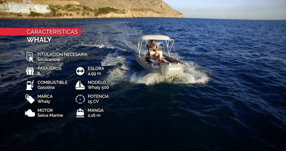 Rental Motor boat Whaly with a permit