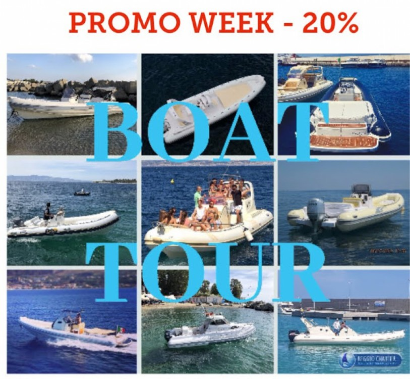 Huur Rubberboot met of zonder schipper Joker Boat in Reggio di Calabria
