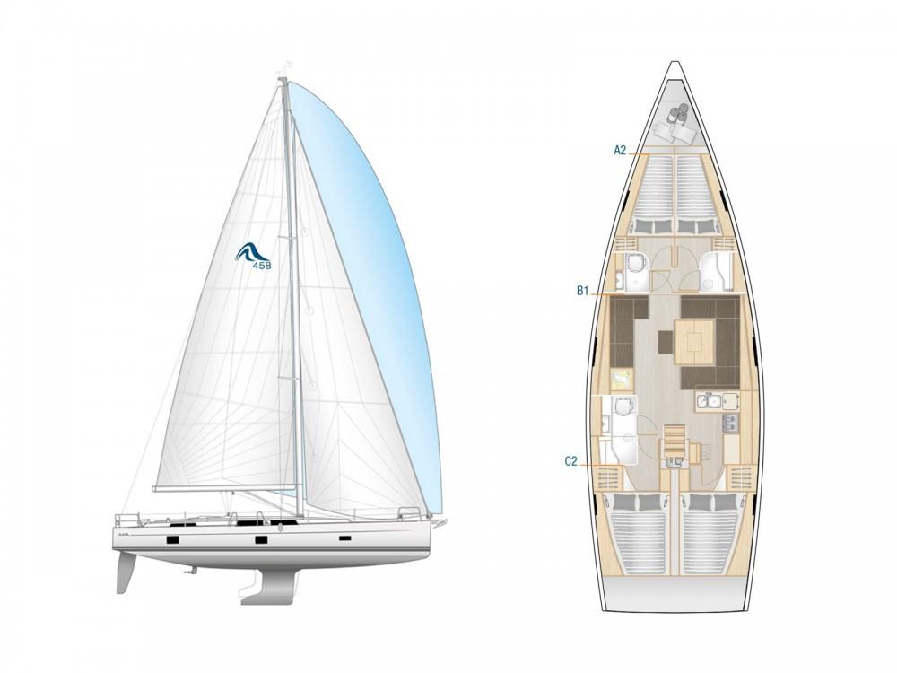 Boat rental Lávrio cheap Hanse 458