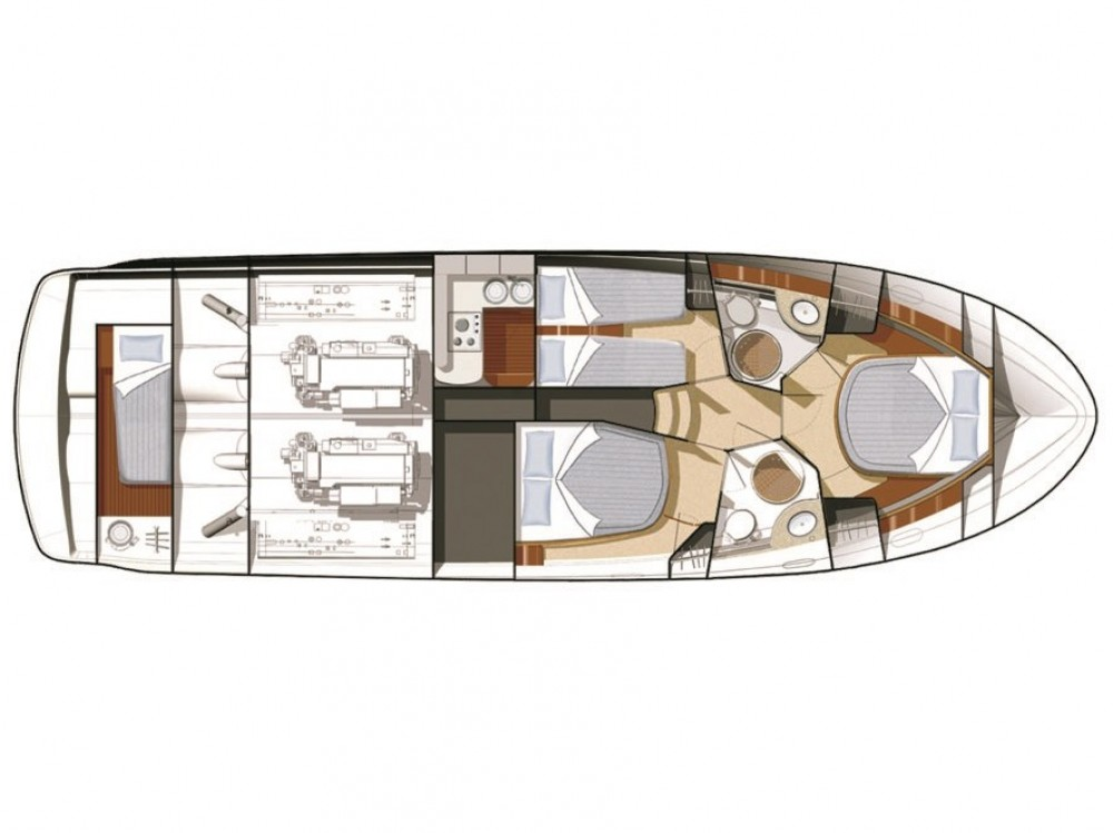 Hire Motor boat with or without skipper Jeanneau ACI Marina Dubrovnik
