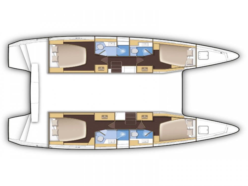 Boat rental Cos cheap Lagoon 42 (4 dbl + 1 single )