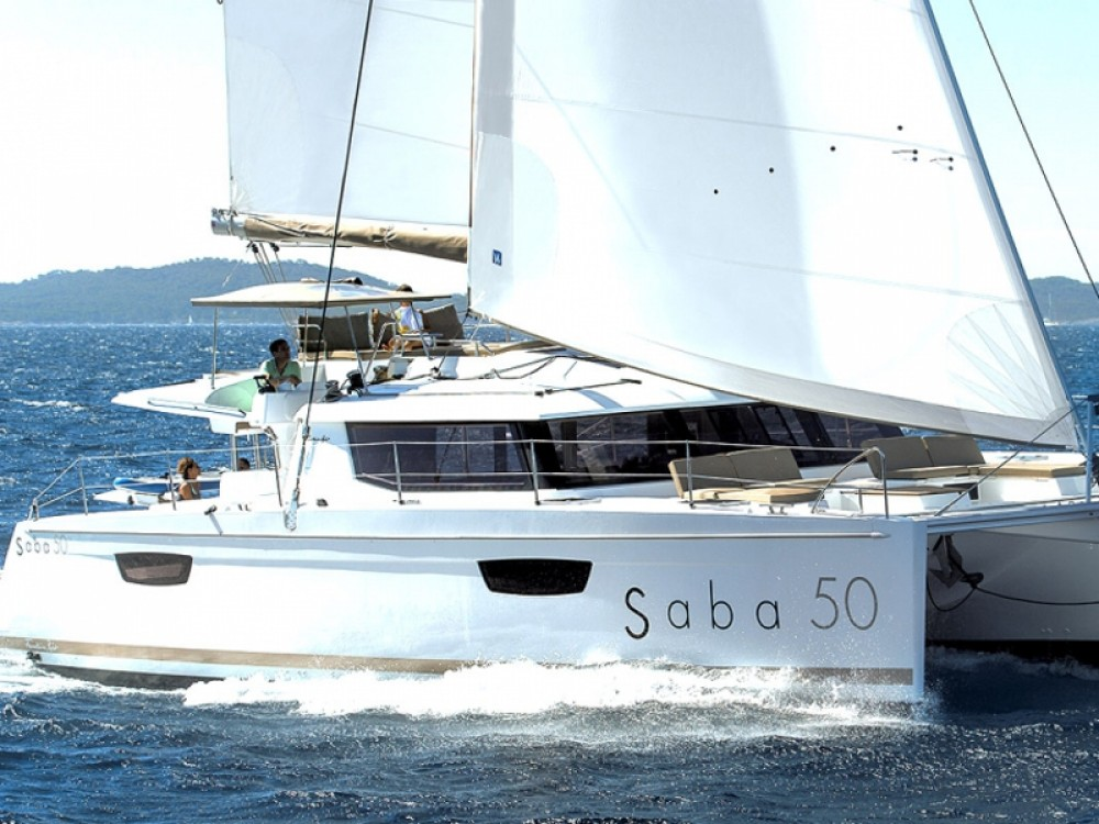 Boat rental Fountaine Pajot Saba 50 -  5 cabin version in Marina de Alimos on Samboat
