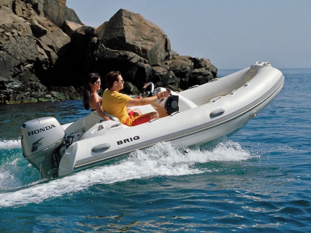 Rental Motor boat Brig with a permit