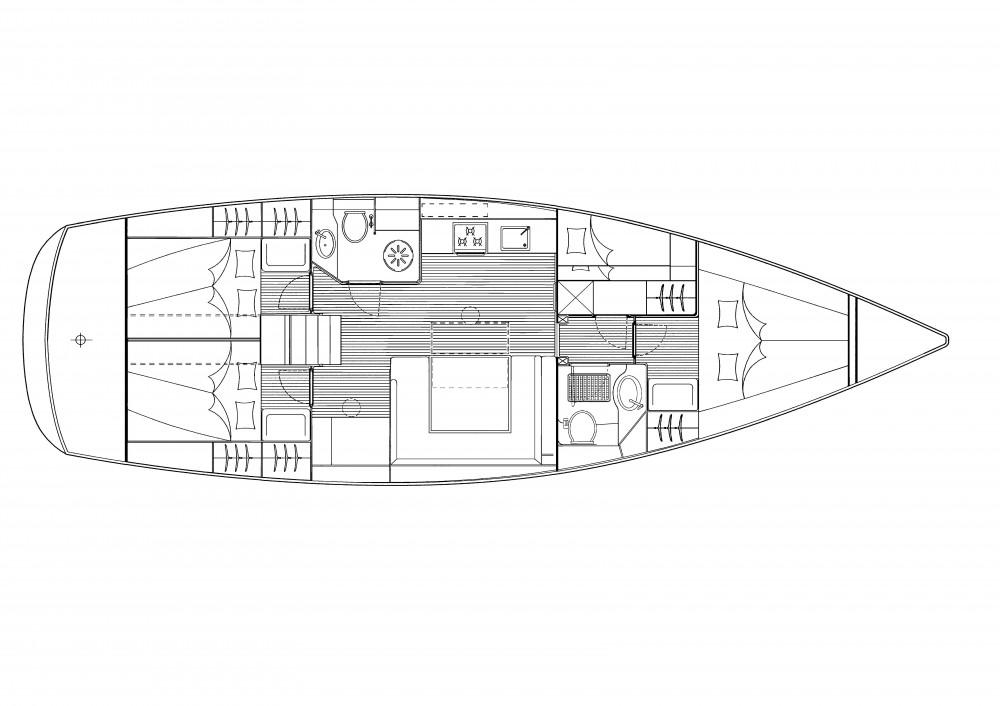 Boat rental Marina Gouvia cheap Bavaria 47 Cruiser