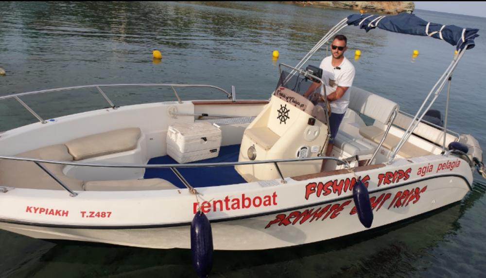 Boat rental Heraklion cheap Lamberti 22 Sky