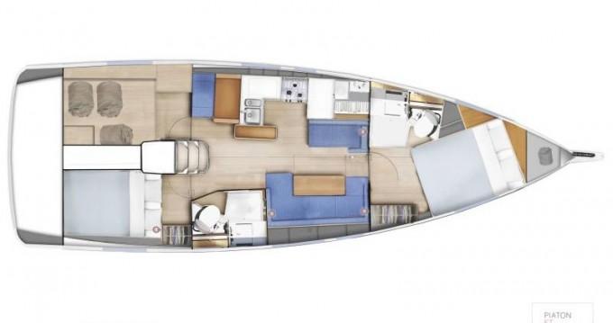 Location bateau Lávrio pas cher Sun Odyssey 410