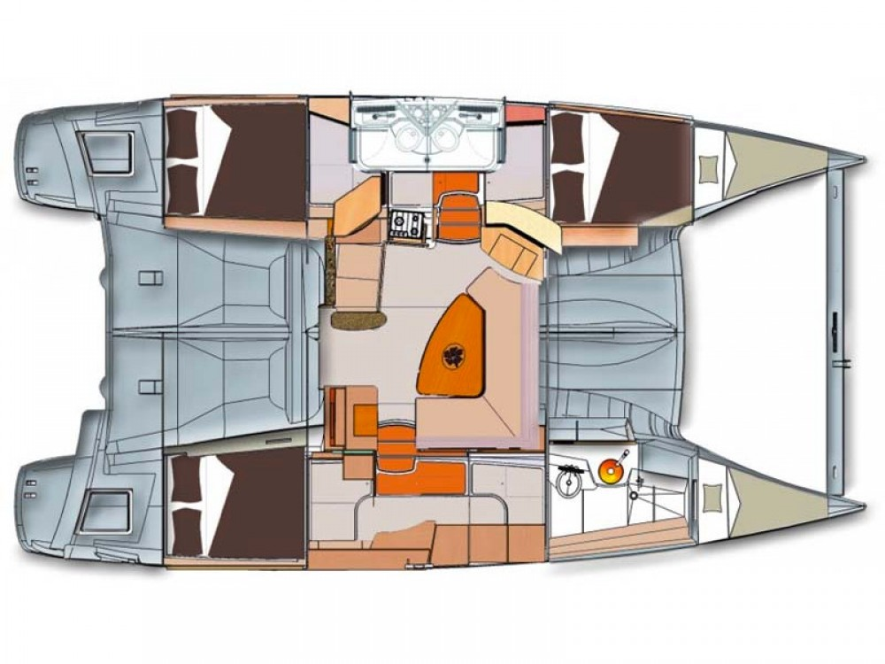 Huur een Fountaine Pajot Lipari 41 in Paraty