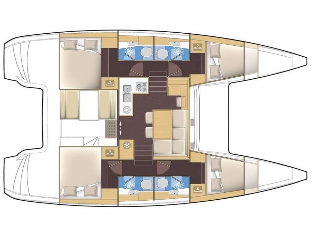 Catamaran te huur in Marina Gouvia voor de beste prijs