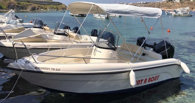 Louer Bateau à moteur avec ou sans skipper Poseidon à Mykonos (Île)