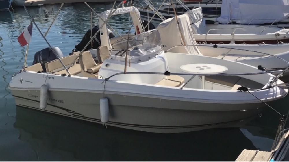 Bootverhuur Jeanneau cap camarat  in Antibes via SamBoat