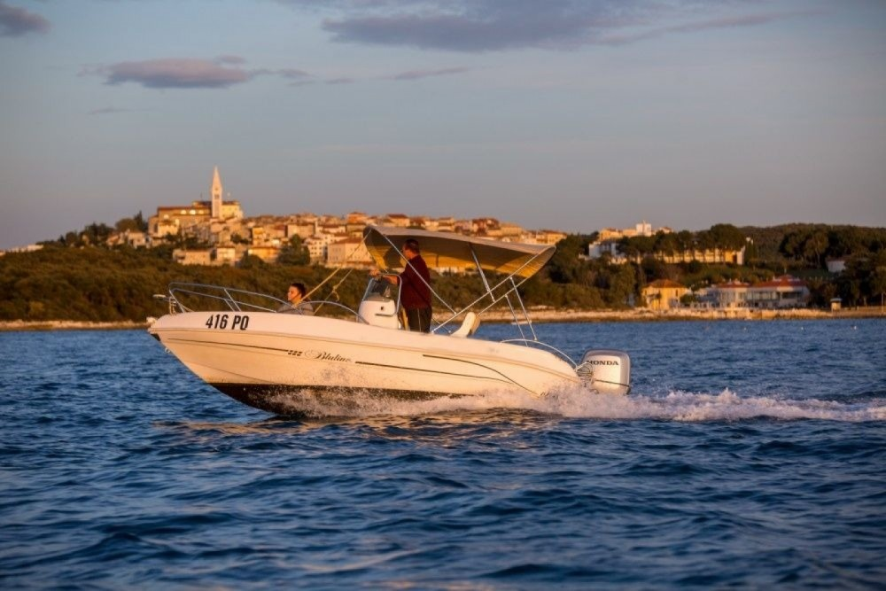 Rental Motor boat Bluline with a permit
