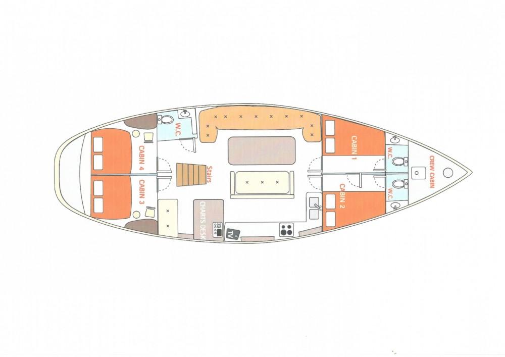 Location bateau Égée pas cher 52ft