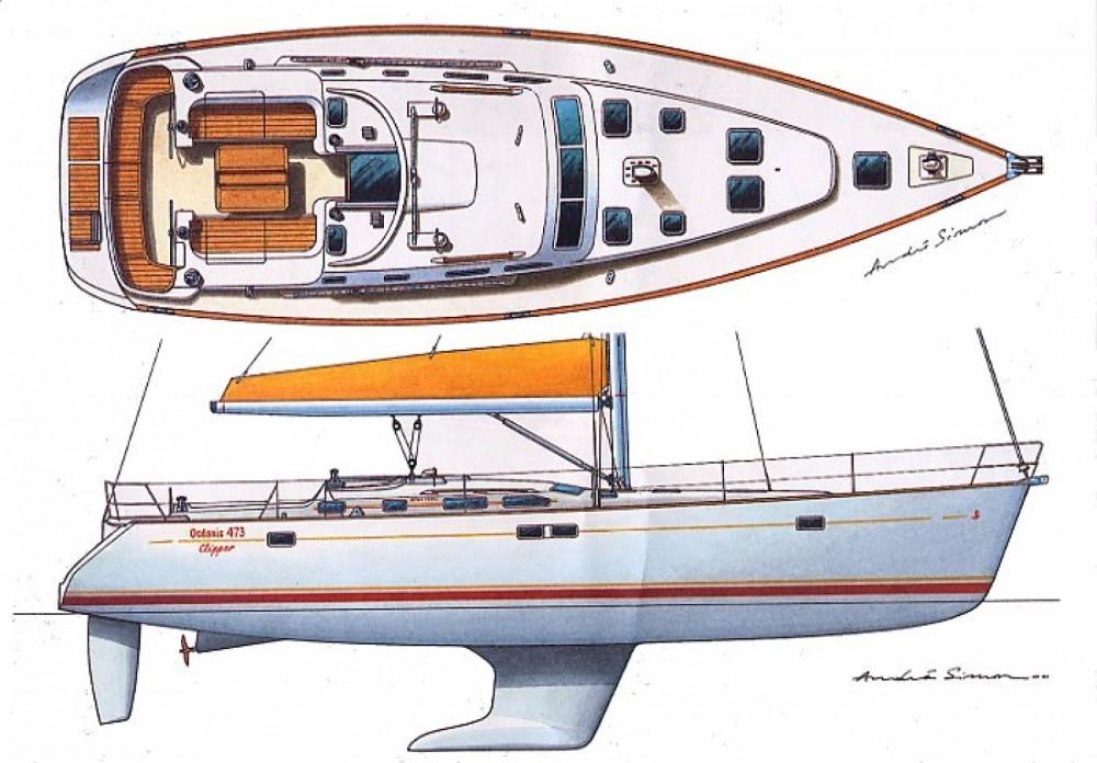 Location bateau Punta Ala pas cher Oceanis 473 Clipper