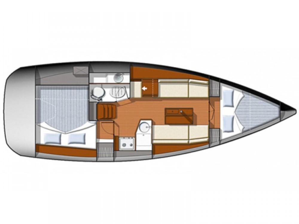 Location bateau Jeanneau Sun Odyssey 33i à Marina Gouvia sur Samboat