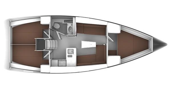 Location bateau Bavaria Cruiser 37 à Rogoznica sur Samboat