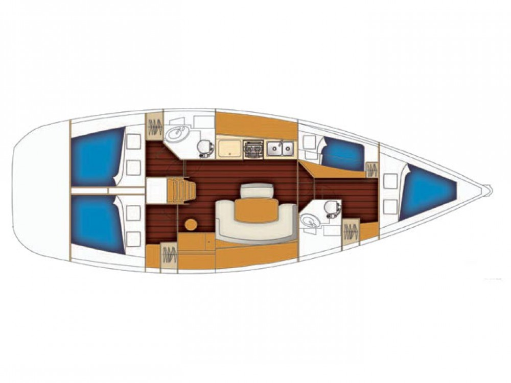 Location yacht à Sukošan - Bénéteau Cyclades 434 sur SamBoat