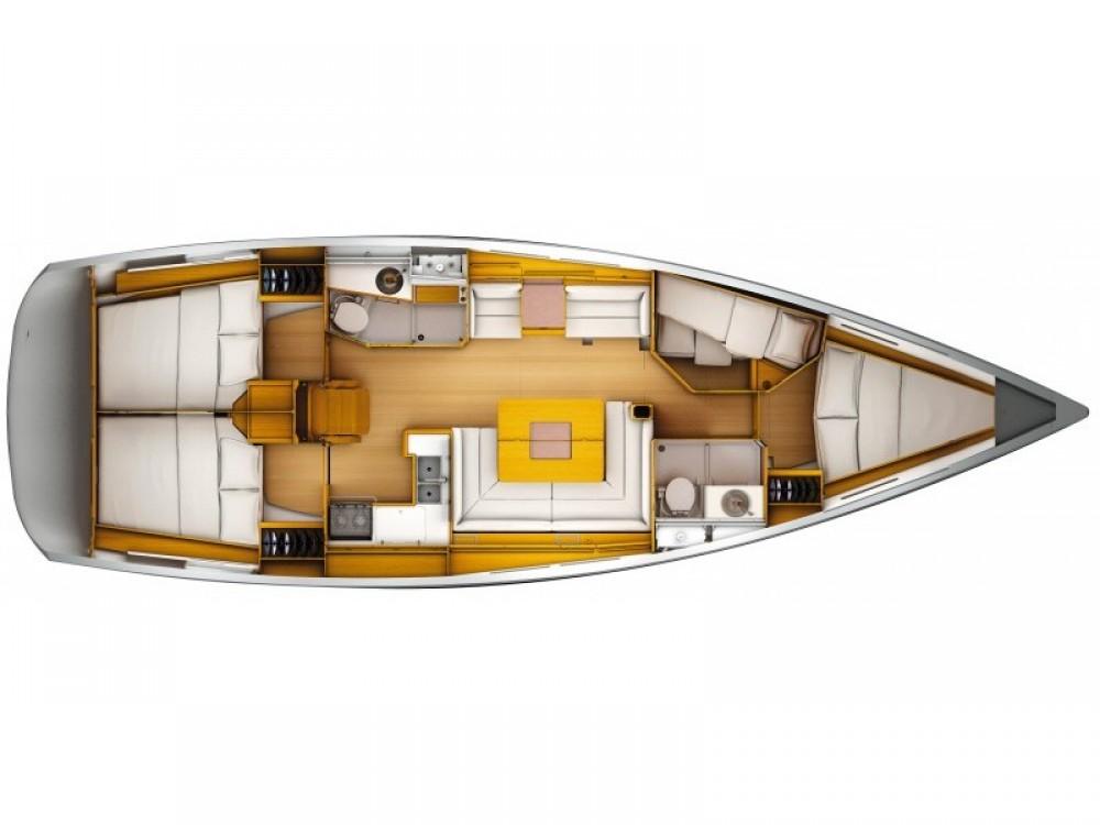Location bateau Jeanneau Sun Odyssey 449 à Sukošan sur Samboat