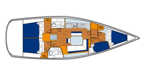 Location bateau Sukošan pas cher Oceanis 43