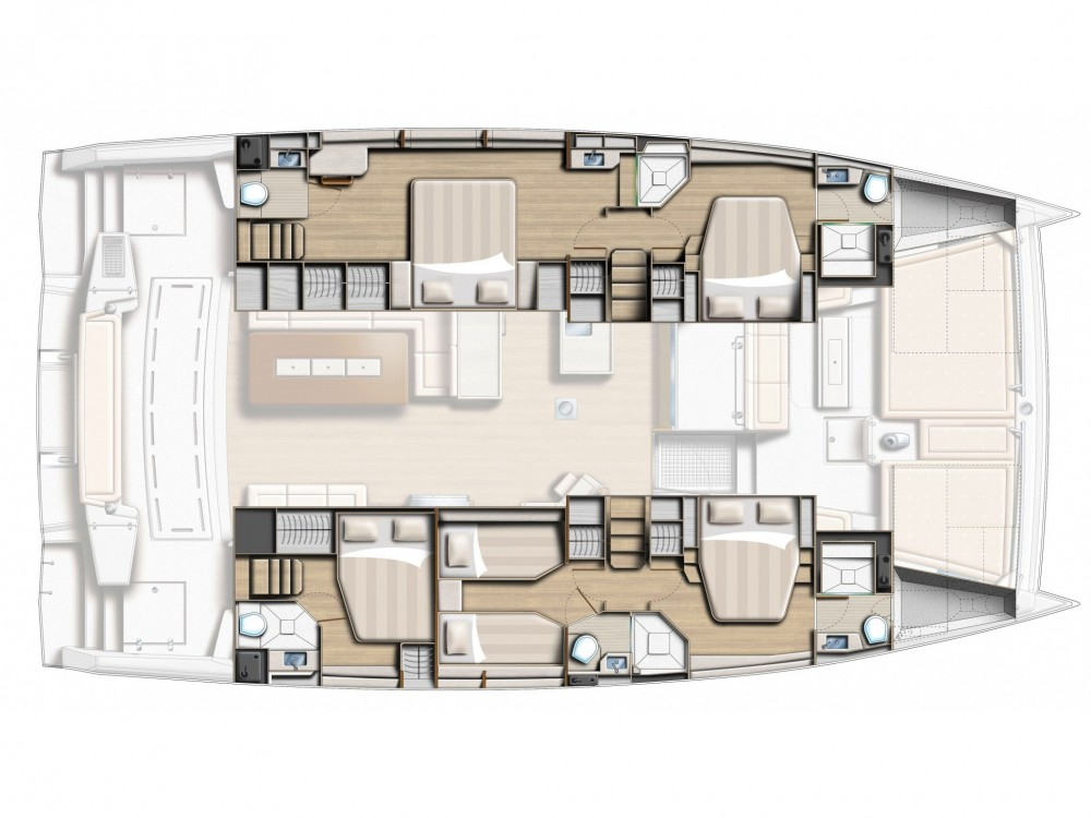 Location yacht à Capo d'Orlando -  Bali 5.4. sur SamBoat