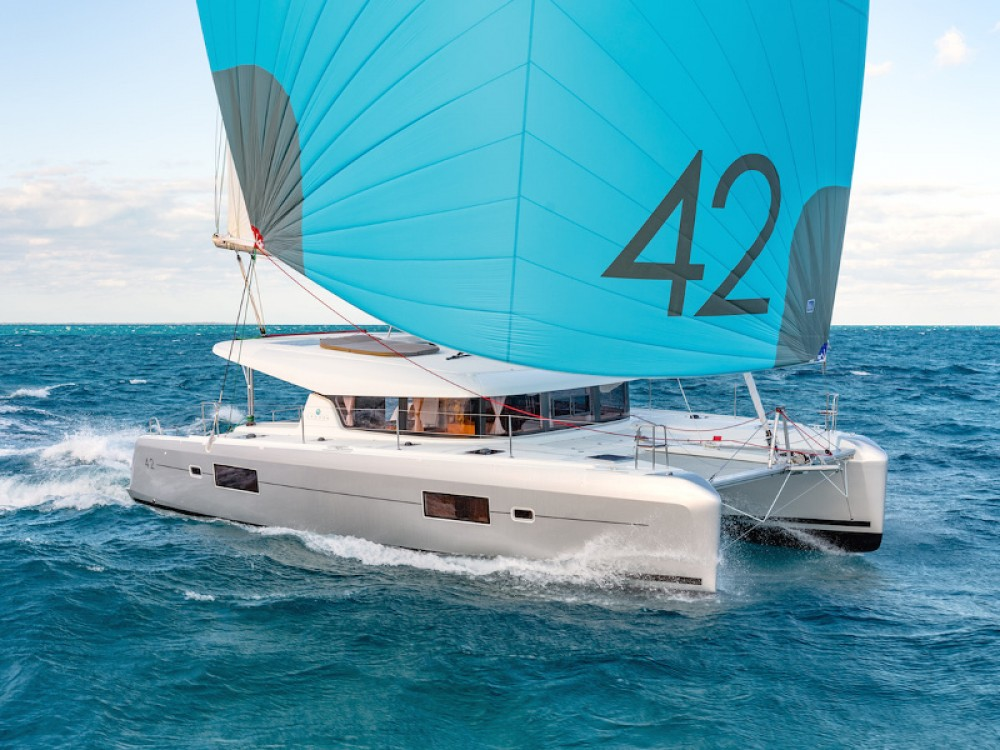 Location yacht à Slano - Lagoon Lagoon 42 (2020) equipped with generator, A/C (saloon+cabins),water maker, microwave oven with grill sur SamBoat