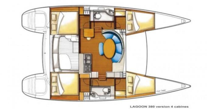 Location bateau Betina pas cher Lagoon 380