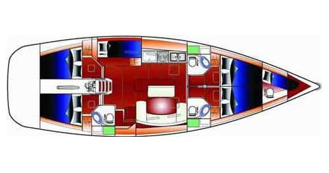 Location bateau Betina pas cher Cyclades 50.5