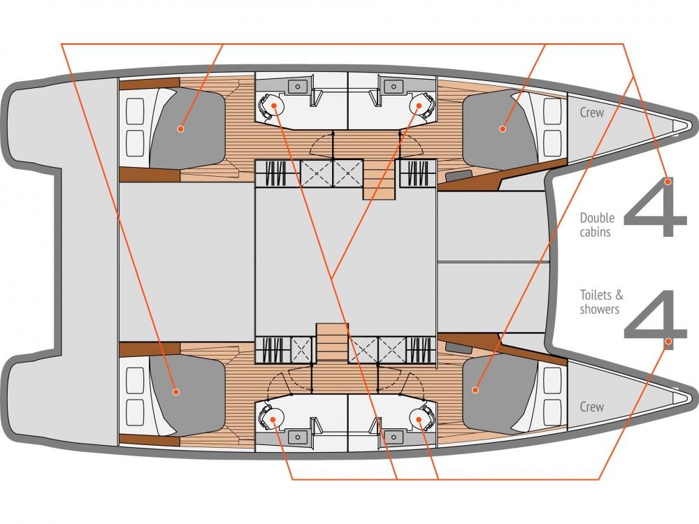 Louer Catamaran avec ou sans skipper Fountaine Pajot à Slano