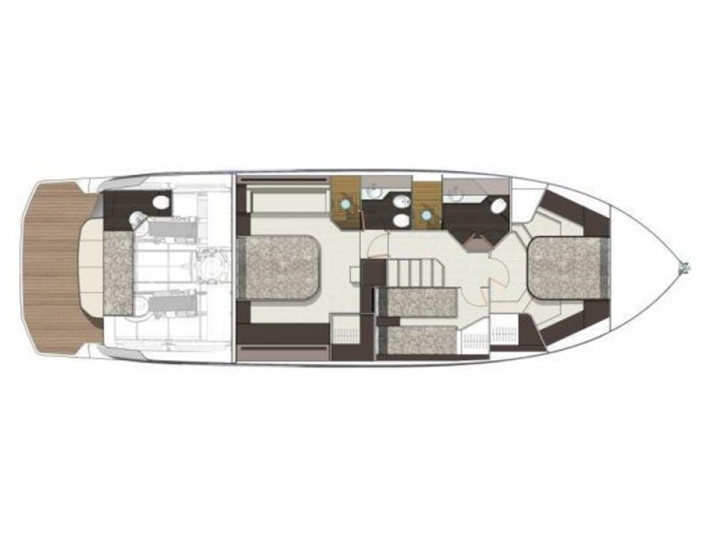 Location bateau Split pas cher Cranchi E 52 F Evoluzione