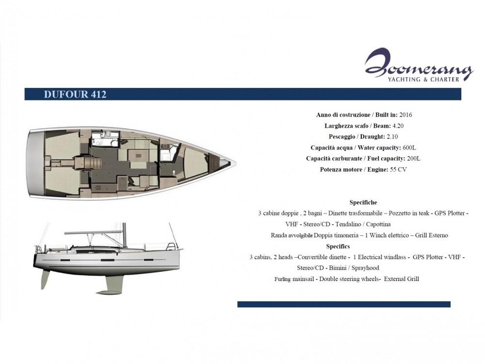 Dufour Dufour 412 GL entre particuliers et professionnel à Marina di Portisco