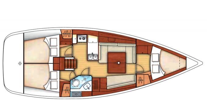 Location yacht à Marina di Portisco - Bénéteau Oceanis 37 sur SamBoat