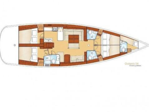 Louez un Bénéteau Oceanis 54 à Álimos