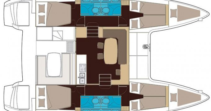 Location bateau Lagoon Lagoon 400 S2 à Corfou sur Samboat
