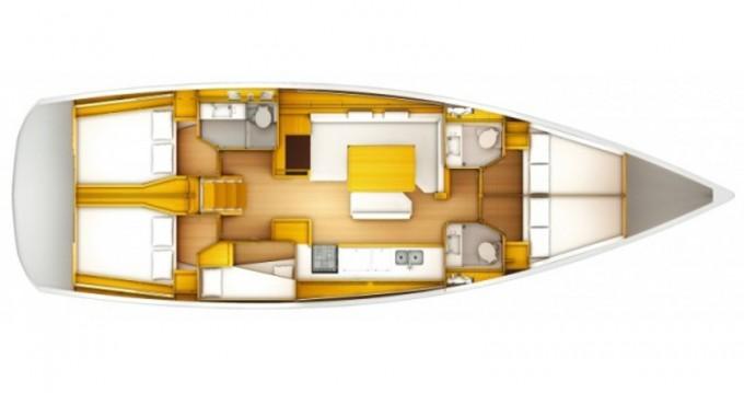 Location bateau Lávrio pas cher Sun Odyssey 519