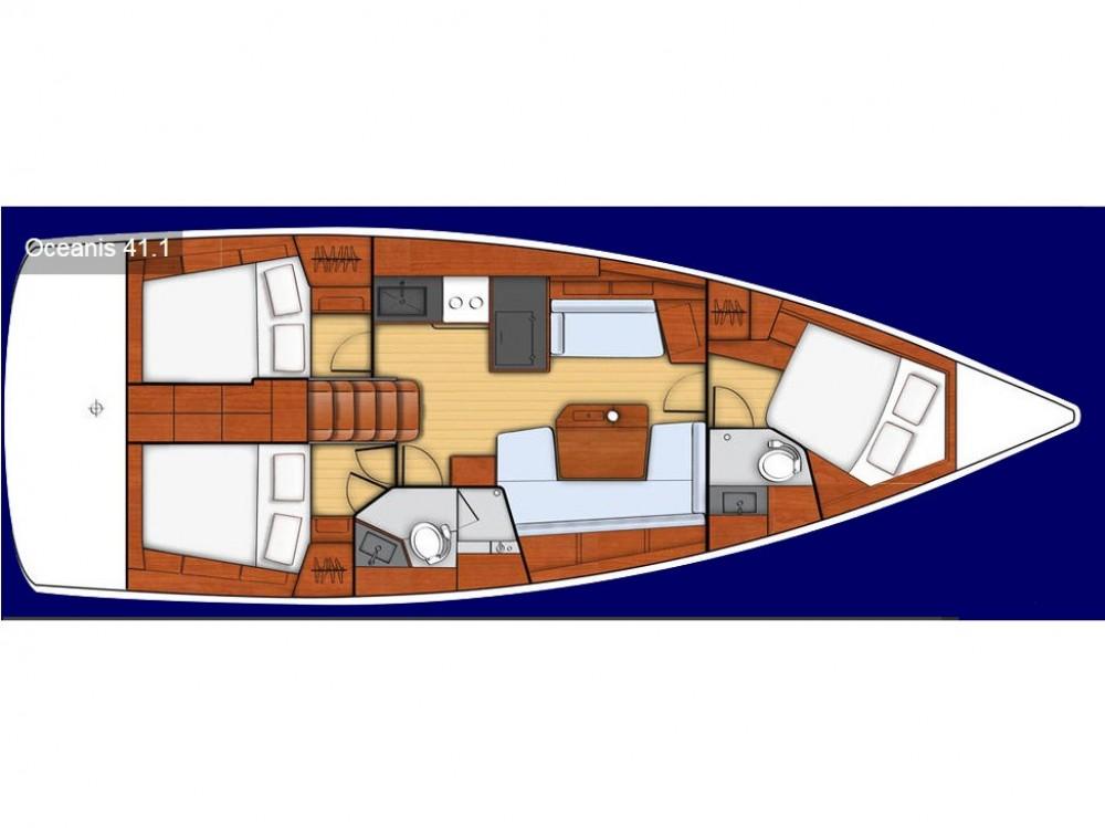Location bateau Bénéteau Oceanis 41.1 à Leucade sur Samboat