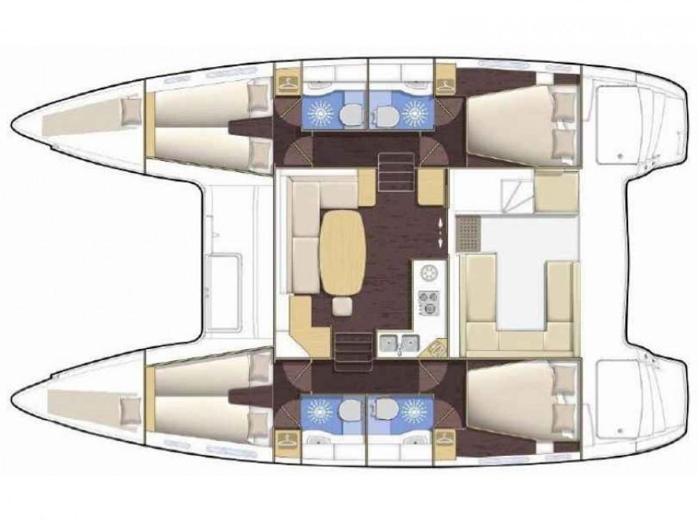 Location bateau Le Marin pas cher Lagoon 400 S2