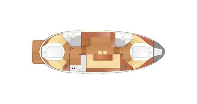 Location bateau Nautiner Nautiner 40.2 AFT à Wilkasy sur Samboat