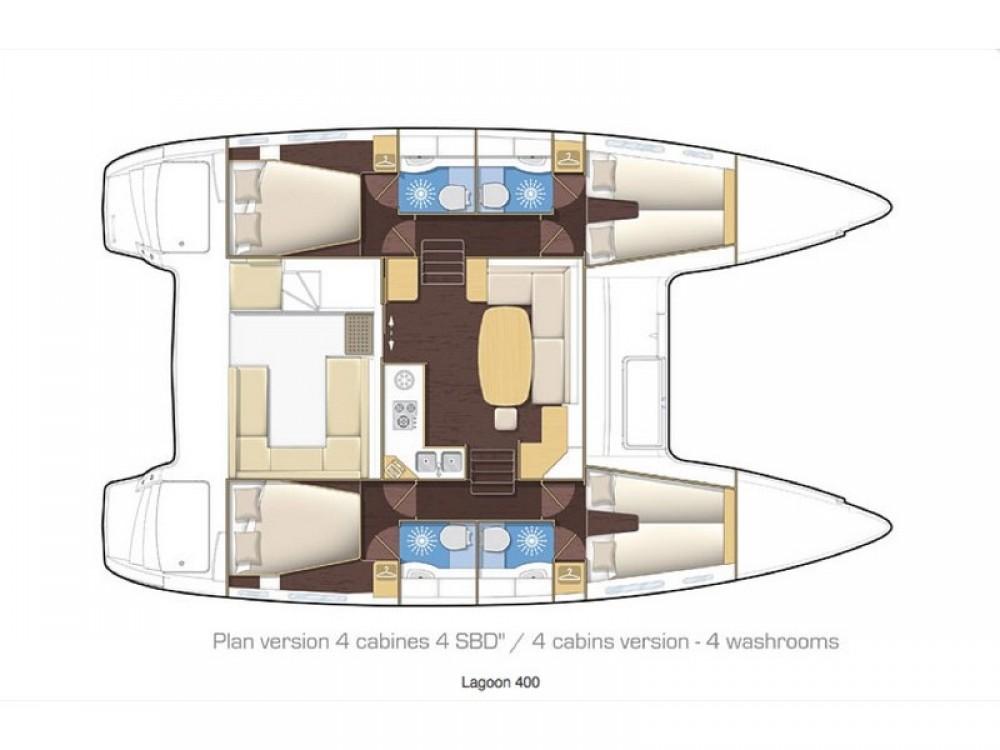 Location Catamaran à Álimos - Lagoon Lagoon 400Lagoon 400