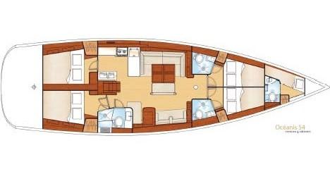 Location bateau Mykonos (Île) pas cher Oceanis 54