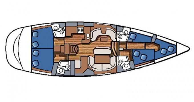 Location bateau Jeanneau Sun Odyssey 54 DS à Betina sur Samboat