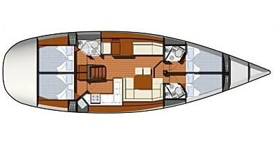 Location yacht à Betina - Jeanneau Sun Odyssey 50DS sur SamBoat