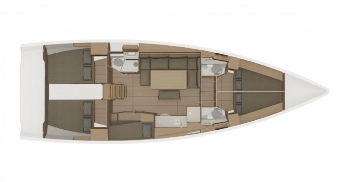 Location bateau Dufour Dufour 460 Grand Large 5Cab à Marina di Portisco sur Samboat