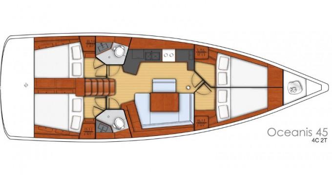 Location bateau Palma de Majorque pas cher Oceanis 45