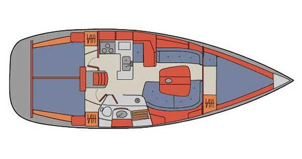 Location bateau Palma de Majorque pas cher Oceanis 361